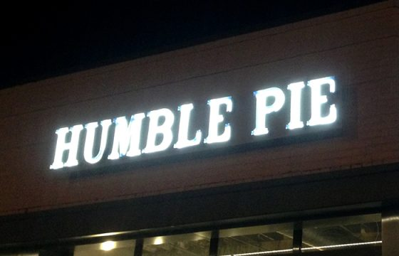 Humble Pie Neon Channel Letters