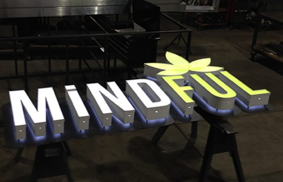 Mindful Reverse Lit Channel Letter