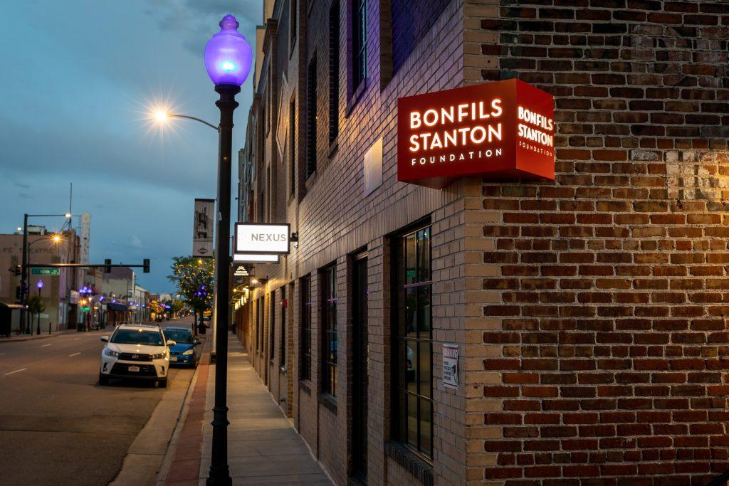 Bonfils Stanton Foundation Illuminated Sign